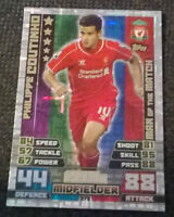 MATCH ATTAX 2014 2015 MAN OF THE MATCH PHILIPPE COUTINHO LIVERPOOL