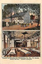 Waldenburg Sachsen Restaurant Gasthof zu Schwaben Postkarte 1927