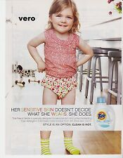 TIDE 2010 magazine ad print art clipping detergent BABY in color diapers + socks