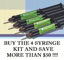 Adhesive Cement Dental Luting 4 Syringe Kit A2 -Dual Cure Composite - Prime Dent