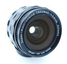 Pentax Super-Multi Recubiertos Takumar 28mm f3.5 Lente Gran Angular M42 ajuste Gratis Reino Unido P&p!