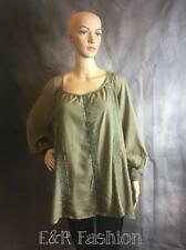 INDIGO THREAD CO. GREEN TOP WITH TASSEL DETAIL SIZE XS (B20)