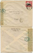 CYPRUS to EGYPT 1948 CENSORED FAMAGUSTA 2pi FRANKING..GHALANOS Printed Env