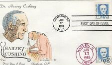 VAN NATTA DR HARVEY CUSHING HAND PAINTED HP FIRST DAY COVER FDC