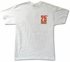 ROCK & ROLL HALL OF FAME 25TH ANNIVERSARY POCKET WHITE T-SHIRT NEW ADULT L