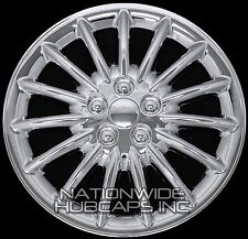 "Set of 4 CHROME 17"" Hub Caps Wheel Covers 15 Spoke Star Full Tire Rim 5 Lug Hubs"