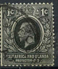 East Africa & Uganda 1912-21 SG#44, 1c Black KGV Used #D22624