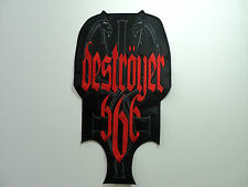 DESTROYER 666 EMBROIDERED BACK PATCH