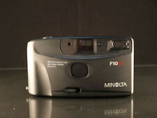 Point & Shoot Camera Minolta F10BF Case Black Motor Drive With Auto Flash Photos
