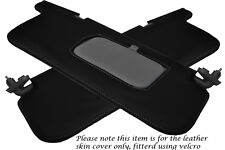 GREY STITCH FITS SUBARU IMPREZA WRX STI 92-98 2X SUN VISORS LEATHER COVERS ONLY