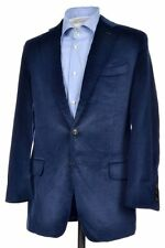 BOGLIOLI COAT Blue Velvet Cotton Silk Sport Coat Blazer Jacket - 42 R