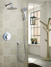 Polished Chrome Bath Wall Mounted Tub Shower Head Handheld Faucet Set