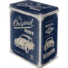 VW Beetle Käfer retro Blechdose Vorratsdose im angesagten Vintage Rockabilly Sty
