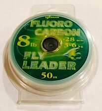 DRENNAN 8 LB. FLUOROCARBON LEADER MATERIAL / 54 YARDS **NEW**