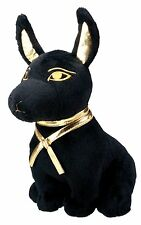 Anubis Dog Puppy Black and Gold Egyptian Stuffed Plush Doll