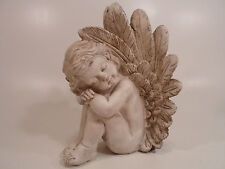 Angel Figurine Cherub Statue Sleeping Baby Outdoor Garden or Indoor Decor Resin