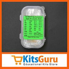 150 Pcs 30 Values Assorted 1/4W Mix Resistor Pack KG288