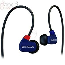 SoundMAGIC PL50 AWARD WINNING PROFESSIONAL IN-EAR HEADPHONES EARPHONES IEM BLUE