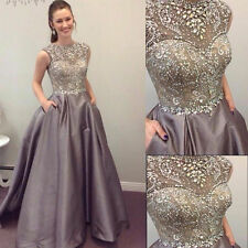 Sweetheart Beaded Satin Celebrity Dress A-Line Evening Prom Party Gowns custom