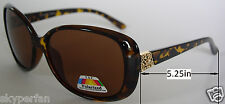 New women Designer sunglasses Tortoise brown/Brown Polarized lens