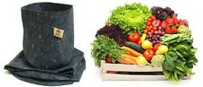 5 Root Pouch gris 8L Pot Géotextile Smart grow Pot guerilla jardin indoor fleurs