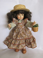 "Anri Sarah Kay ""SARAH"" Hand Carved Wood & Painted Hinged Doll Italy  LE 504/750"