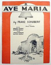 "SHEET MUSIC "" AVE MARIA "" DATED 1935"