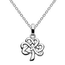 New Silver Irish Celtic Tree of Life Knot Work Pendant Necklace Gift Boxed