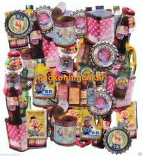 Retro Antique Case Can Cap Bin Juice Match Design Sticker Scrapbook Q-lia JAPAN