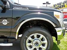 FORD F-250/350 SUPER DUTY 2011-2015 TFP STAINLESS CHROME FENDER TRIM MOLDING SET