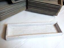 Holztablett Kerzentablett Dekotablett Holzschale Shabby weiß gewischt 35x10cm