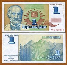 Yugoslavia, 1 Novi Dinar, 1994, Pick 145, UNC   Short lived issue