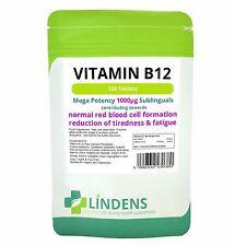 La vitamina B-12 1000mcg Alta Potencia 1-a-day; 100 Tabletas Lindens