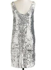 NWT J. CREW $695 CATE SEQUIN PARTY DRESS SZ 12 SILVER COCKTAIL 08444 SOLD-OUT!