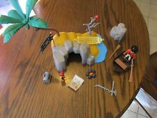 Playmobil Pirate Island Set With Extras 4139 Toy Parrot Boat Ship