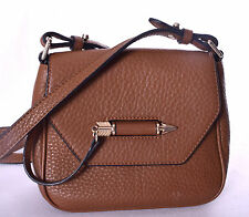 MACKAGE Novaki Light Brown Pebbled Leather Small Crossbody Purse