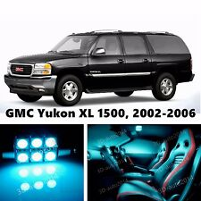 14pcs LED ICE Blue Light Interior Package Kit for GMC Yukon XL 1500, 2002-2006