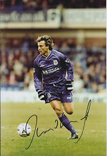 David GINOLA SPURS SIGNED COA Autograph 12x8 Photo AFTAL Tottenham LEGEND