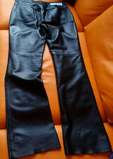 Black Real Leather Jeans by Iceberg