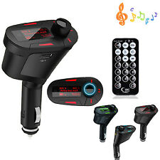 Car Wireless FM Radio Transmitter Audio MP3 USB SD MMC Card Slot Remote Control