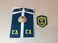 ORIGINAL USSR SOVIET MILITARY AVIATION AIR FORCE PATCHES AND METAL EMBLEM