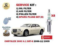POUR CHRYSLER 300C 6.1 SRT8 05-10 FILTRE POLLEN AIR HUILE SET + 8