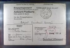 Camp Stalag VIIA Moosburg 1942 POW Prisoner France Kriegsgefangenenpost K90