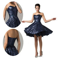Short Homecoming Graduation Sequins Prom Evening Cocktail Party Bridesmaid Dress