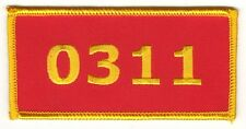 USMC US MARINE CORPS MARINES Gold on Red Patch MOS 0311 Rifleman Iron on Sew on