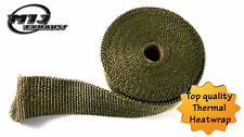 Titanium Heat Wrap High Temp Treated Exhaust Manifold Heatwrap Tape 10m UK Made