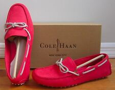 COLE HAAN NIKE AIR Garnett II Red Nubuck Leather Driver Driving Flats Shoes 6