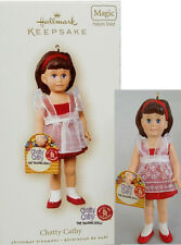 "Hallmark 4"" BRUNETTE CHATTY CATHY RED PINAFORE  TALKS NRFB"