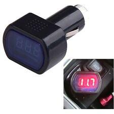 Digital Mini LED 12V/24V LED Car Cigarette Socket Voltmeter Voltage Tester Auto