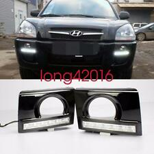 Exact Fit Hyundai Tucson 2005-2009 White LED DRL Daytime Running Lights Fog Lamp